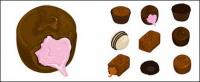 Chocolate vector material
