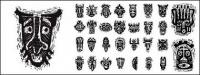 African tribal masks pictorial material vector