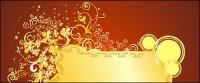 Gold gorgeous patterns Vector-11
