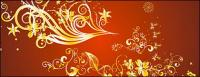 Gold gorgeous patterns Vector-3