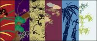 Vector traditional pictorial series  4-Flower plants