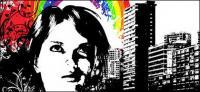 City rainbow patterns  vector