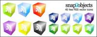 3D RSS Subscribe vector icon material