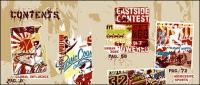 Sports and cultural elements of street trend of vector material-1