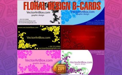 floral design b cards