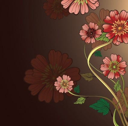 free vintage floral vector background