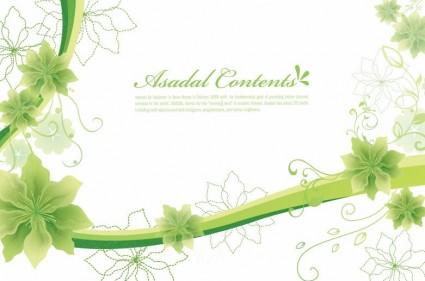 gráficos de vetor de fundo floral simples e elegante