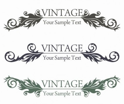 vintage style floral design vector graphic