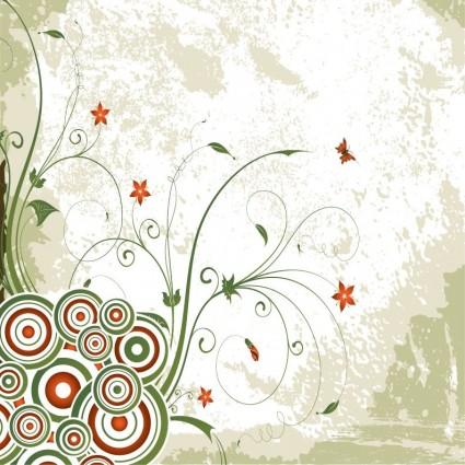 vintage swirl floral background vector