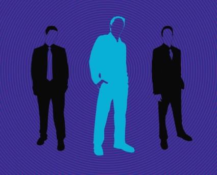 ธุรกิจผู้ชาย silhouettes