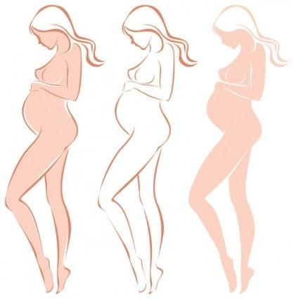 vector de silueta de las madres