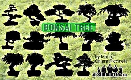 ต้นไม้บอนไซเวกเตอร์