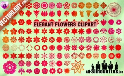 ภาพตัดปะดอกไม้เวกเตอร์