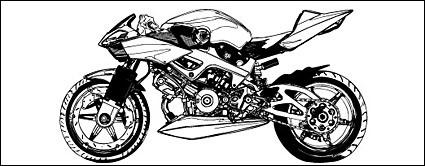 material de vectores moto blanco y negro