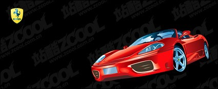ferrari f360 car vector material