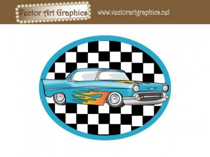 vector art graphics classic automobile