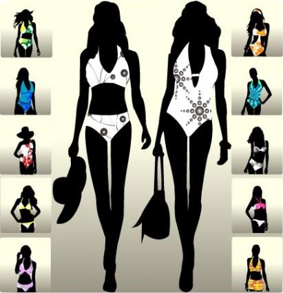beautiful girl figure vector