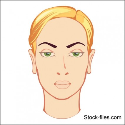 face of blonde girl vector