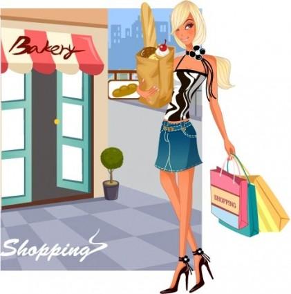 fashion women shopping
