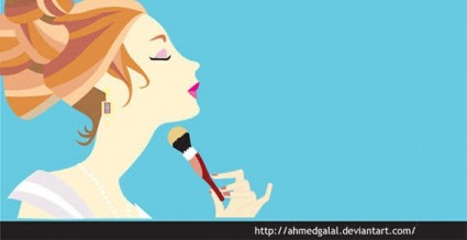 make up girl vector