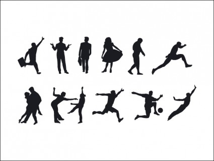 silhouettes คน