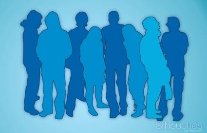 เวกเตอร์ฟรี silhouettes