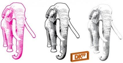 vector libre elefante