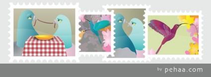 vector de colección de sellos