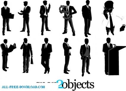 silhouettes นักธุรกิจเวกเตอร์ฟรี 12