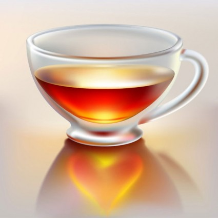 realistic teacup vector