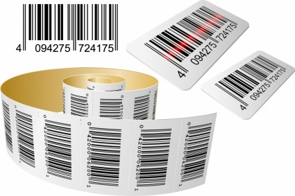 realistic vector barcode