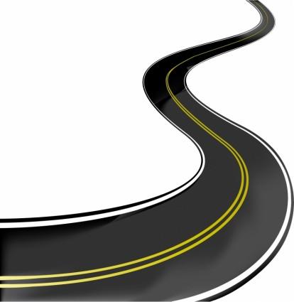 realistic vector highway