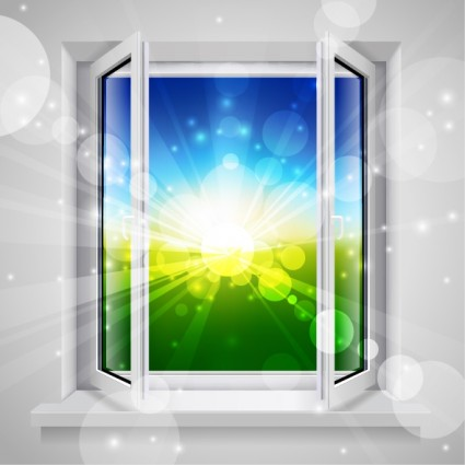 vector realistic windows and doors