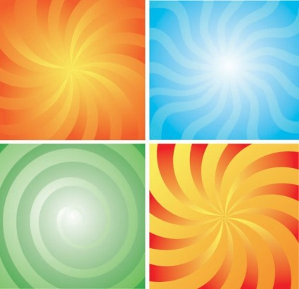 4 rotation lines of the background vector