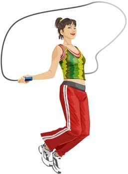 jump rope sport vector
