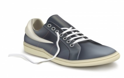 photorealistic vector illustration of sports shoe sneaker