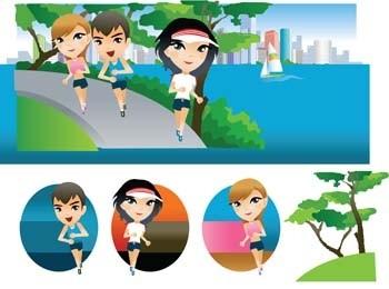 running sport vector