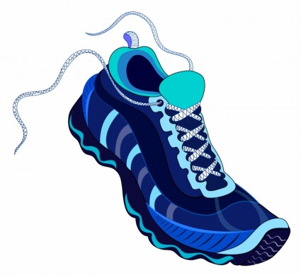 shoe running walking artificial wing jogging flying exercising rh hereisfree com running shoe silhouette vector running shoe footprint vector