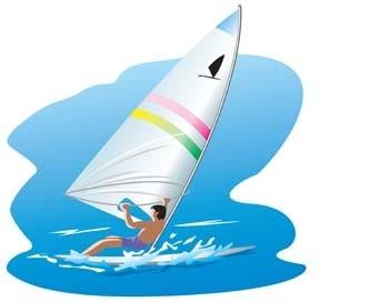 surfing sport vector