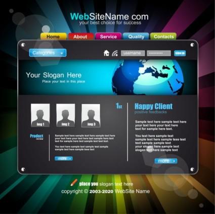แนวโน้มของเว็บไซต์แบบไดนามิกแบบเวกเตอร์