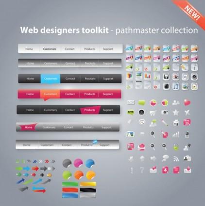 เครื่องมือออกแบบเว็บที่มีประโยชน์รวบรวมแบบเวกเตอร์