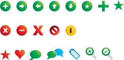 basic icons set icons