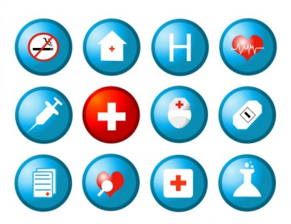 health circular icon vector