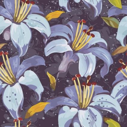 belles fleurs et motifs le vecteur
