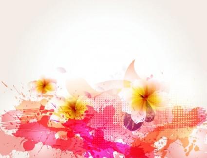 아름 다운 꽃 배경 벡터