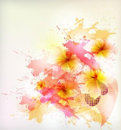 美しい花の背景のベクトル