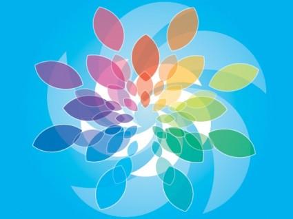 blue colored background vector design