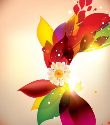 dream of flowers vector background