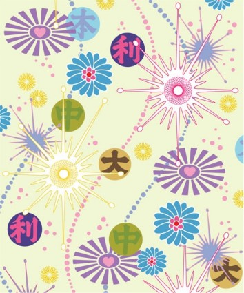 lovely flower background vector