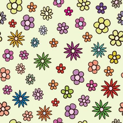 lovely flowers vector background